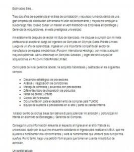 Carta de motivación académica