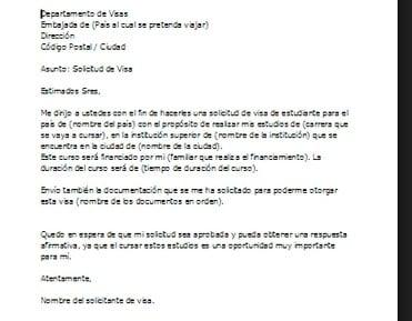 Ejemplo De Carta De Motivacion Para Visa Ejemplos De