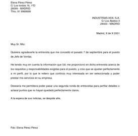 Cartas de agradecimiento en inglés