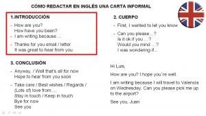 Como redactar una carta informal en inglés