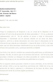 Ejemplo de carta formal laboral 3
