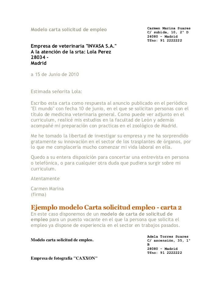 Carta De Empleo Formal Carta De Empleo No Formal I will be ...