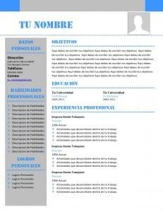 Modelo Currículum